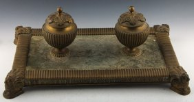 Desktop Inkwell Egyptian Revival