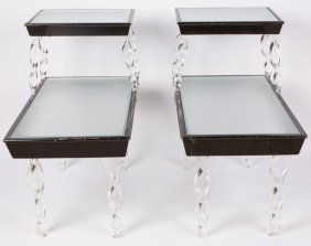 Pair Of Grosfeld House Art Deco Side Tables