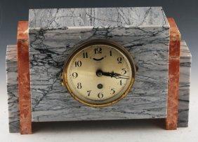 Art Deco Marble Mantle Clock