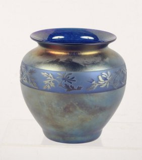 Zellique Studios Iridescent Glass Vase