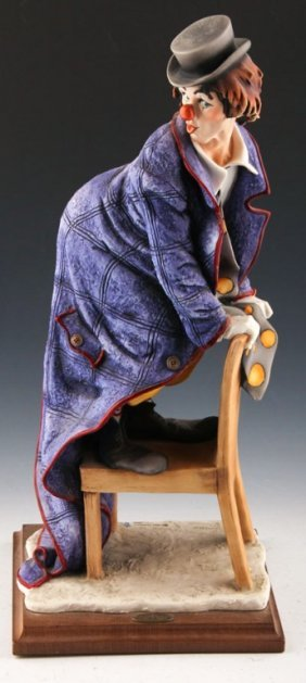 "Giuseppe Armani Porcelain ""clown On A Chair"""