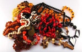 Lot Of Costume Jewlery | Bead Necklaces