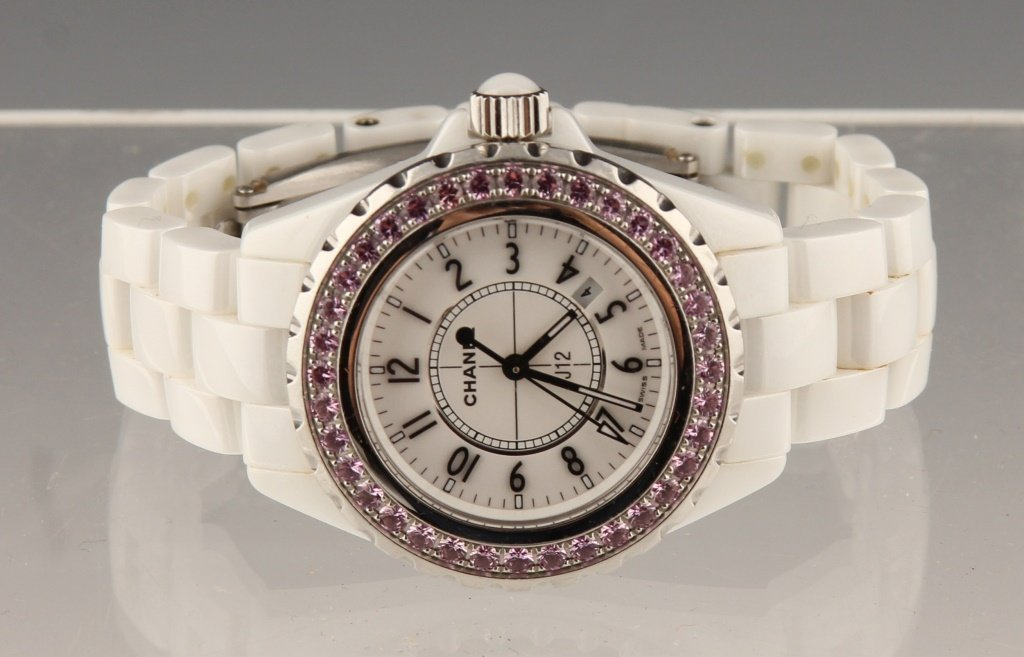 COCO CHANEL PINK SAPPHIRE CERAMIC AUTOMATIC WATCH