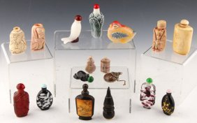 17 Chinese Snuff Bottles | Bone, Stone, And More