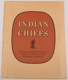 8 Mckenney & Hall Indian Chiefs Engravings Folio