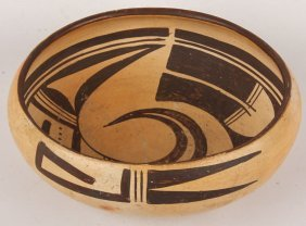 Mid 20th C Hopi Pottery Bowl