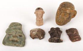 6 Pre-columbian Pottery Figural Effigies