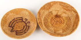 2 Native American Coil Baskets