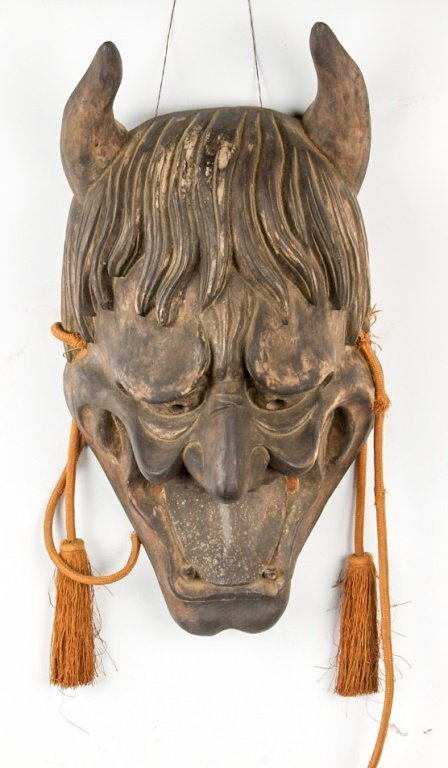 EARLY 20TH C JAPANESE NOH MASK OF HANNYA