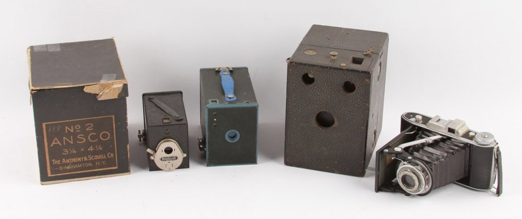 5 EARLY 20TH CENTURY CAMERAS