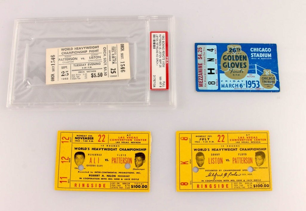 4 CHAMPIONSHIPS FINALS BOXING TICKETS ALI & MORE