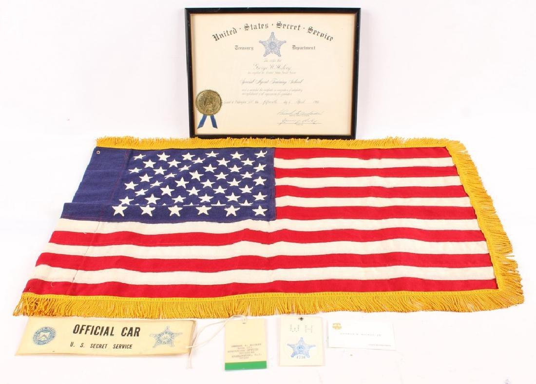 JOHN F KENNEDY ASSASSINATION PRES. LIMOUSINE FLAG