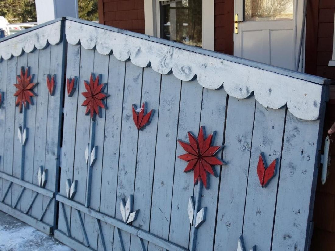 Pair Of Wooden Gates - 5
