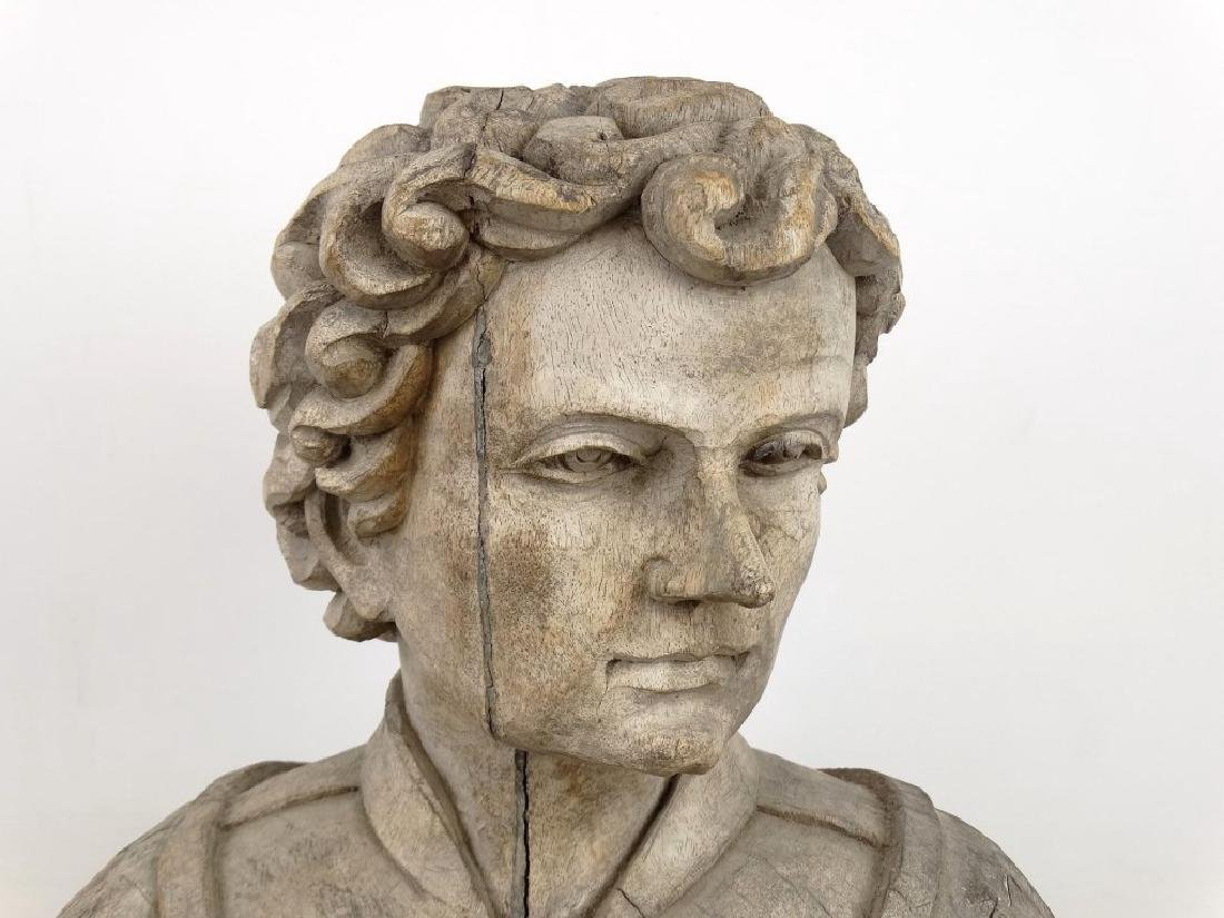 19th c. Carved Bust - 2