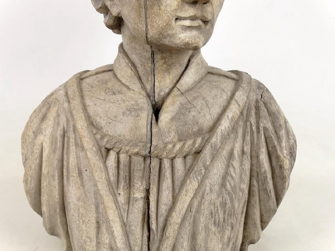 19th c. Carved Bust - 3