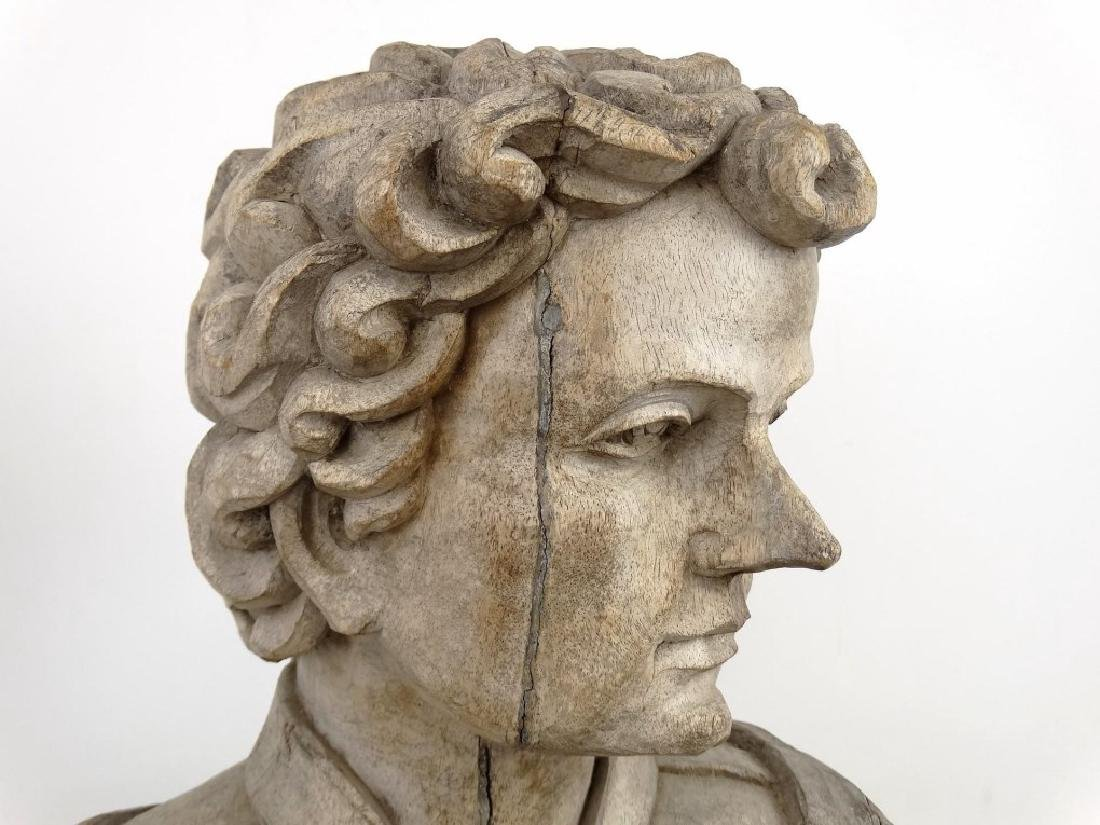 19th c. Carved Bust - 5