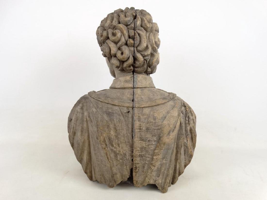 19th c. Carved Bust - 6