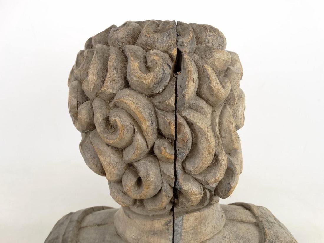 19th c. Carved Bust - 7