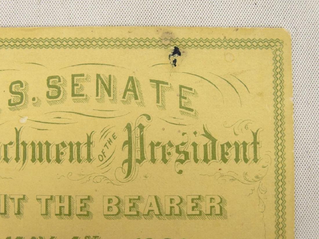 President Andrew Johnson Impeachment Ticket - 2