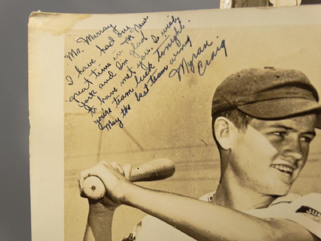 Autographed Baseball Photographs - 5