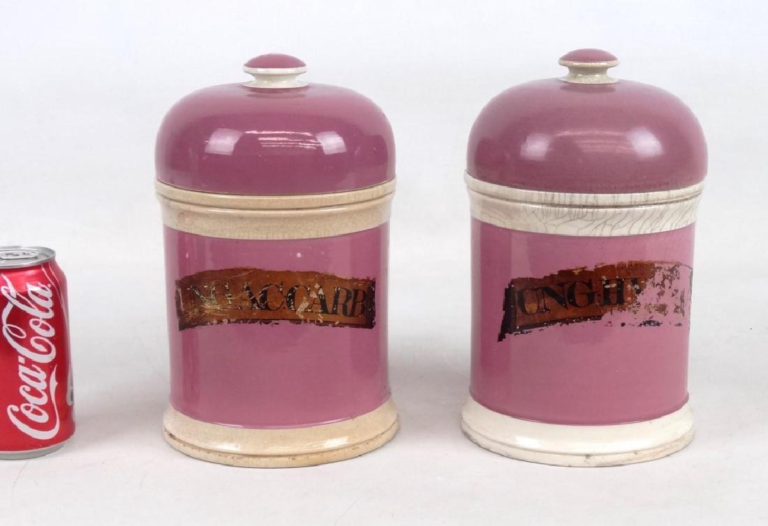 Pair 19th c. Apothecary Jars