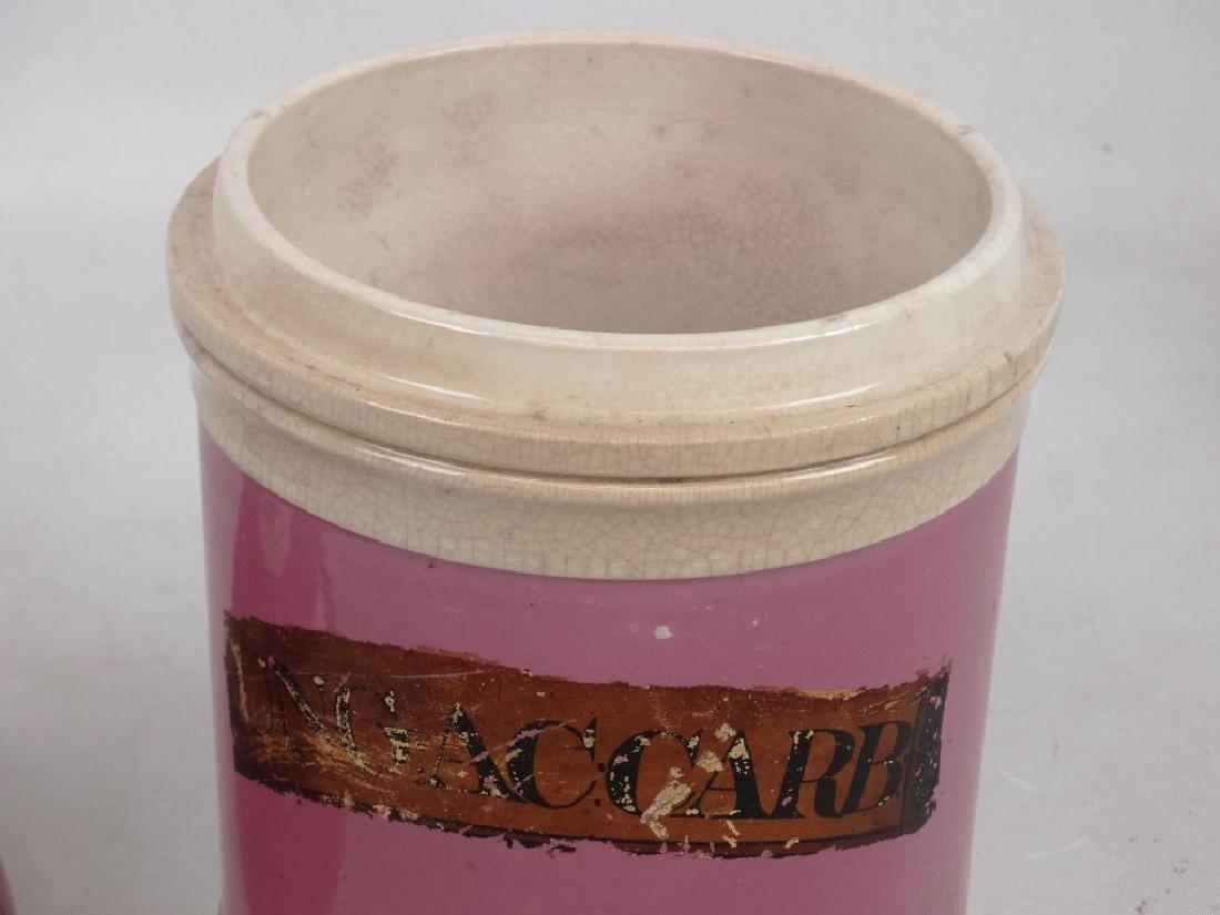 Pair 19th c. Apothecary Jars - 3