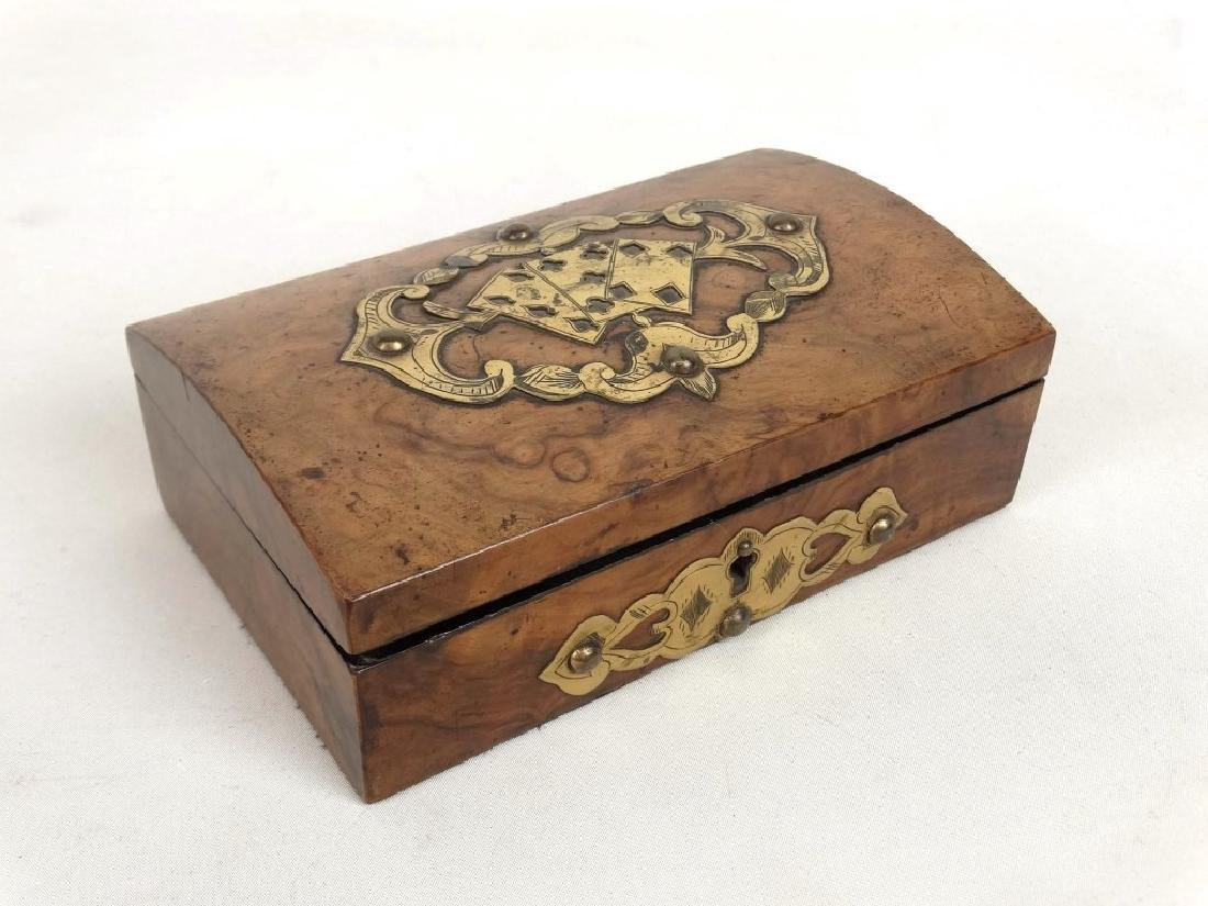 19th c. Card Box & Shark Skin Case - 2