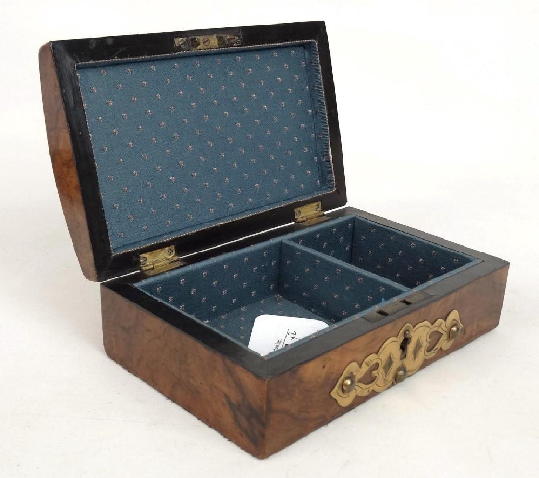 19th c. Card Box & Shark Skin Case - 4