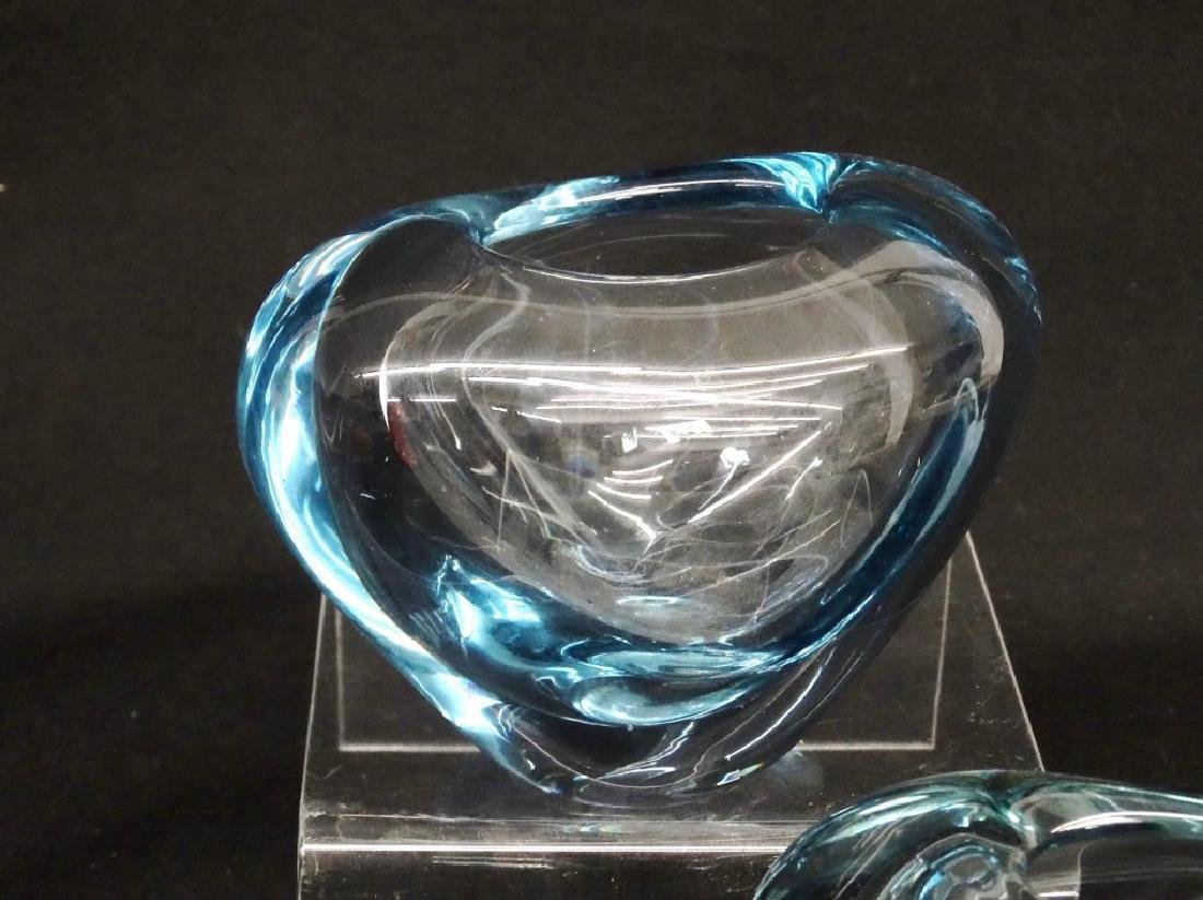 Holmegaard Clear Glass Vases - 2
