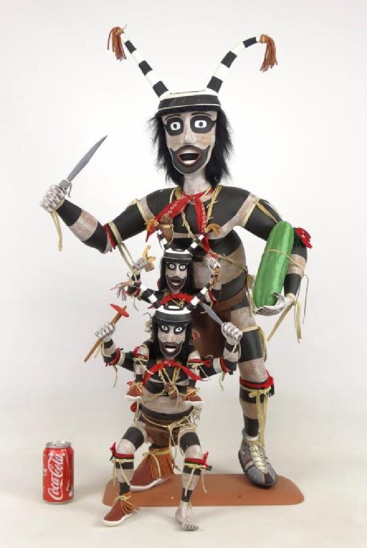 Hopi Clown, Folk Art Kachina Figure