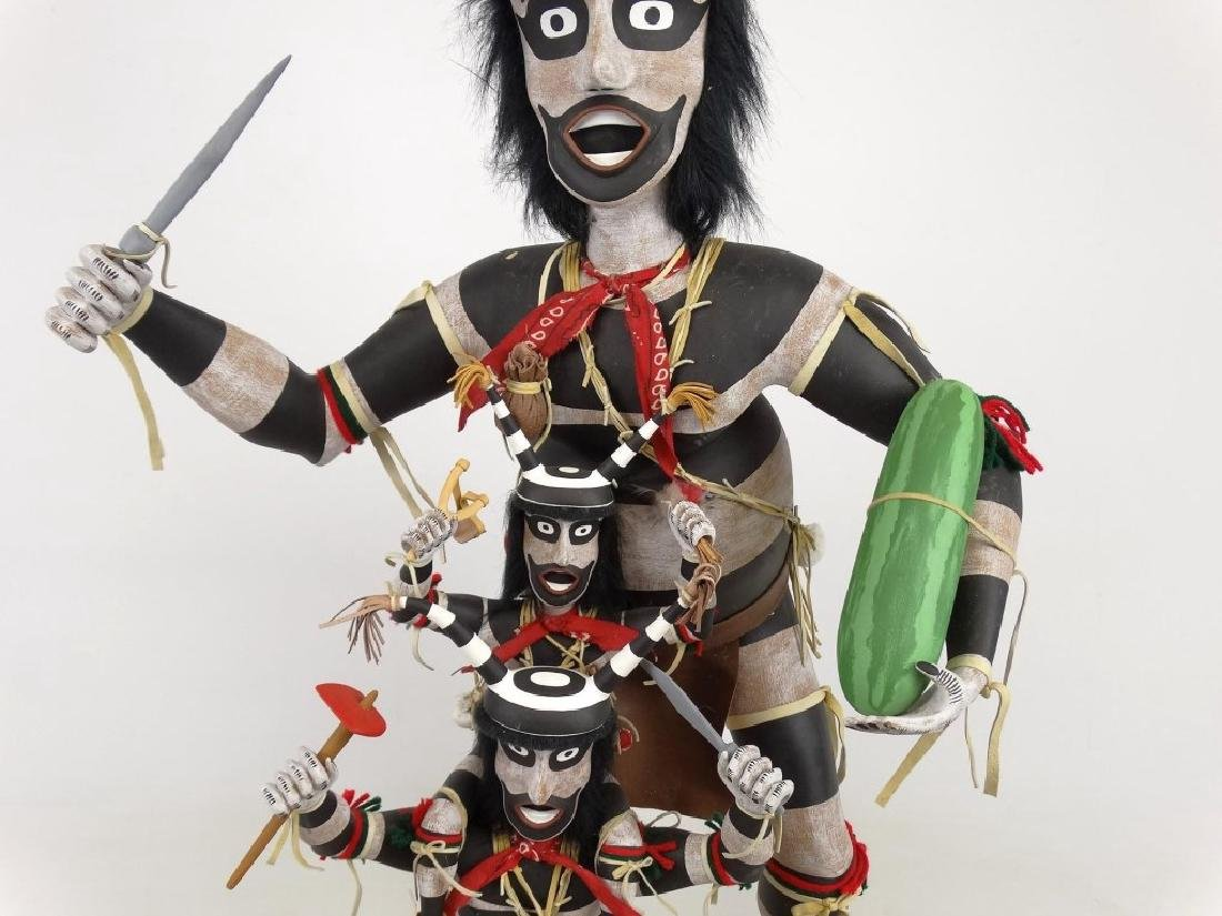 Hopi Clown, Folk Art Kachina Figure - 3