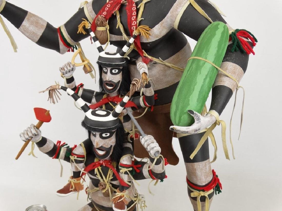 Hopi Clown, Folk Art Kachina Figure - 4