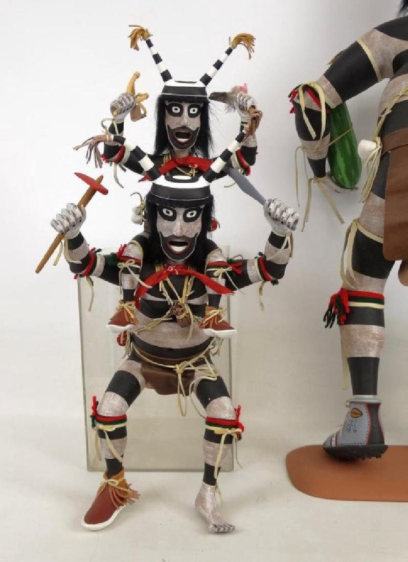 Hopi Clown, Folk Art Kachina Figure - 8