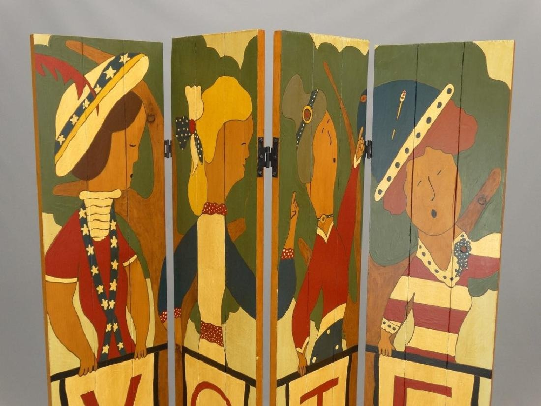 Folk Art Screen - 2