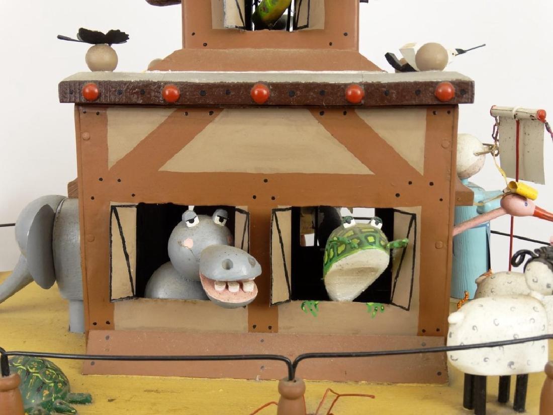 Contemporary Folk Art Noah's Ark Whirligig - 13