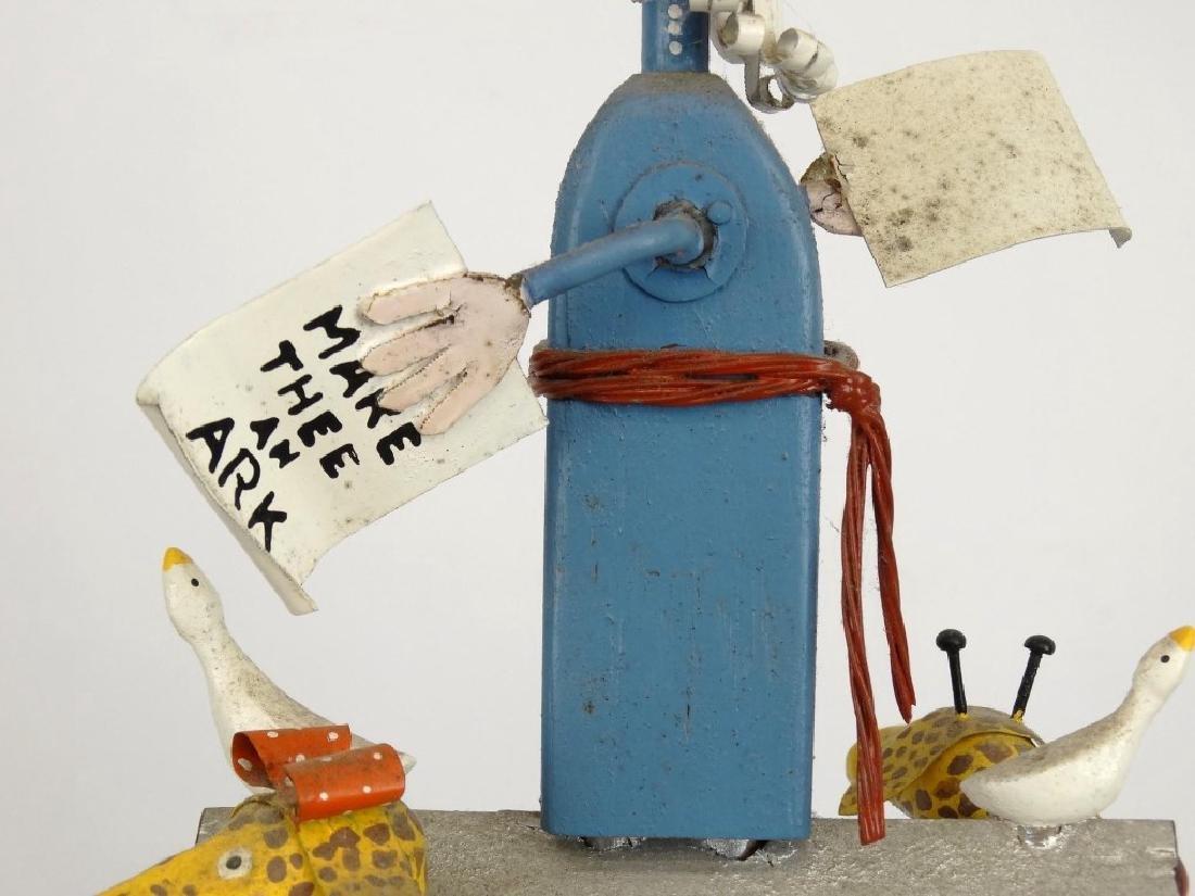 Contemporary Folk Art Noah's Ark Whirligig - 14