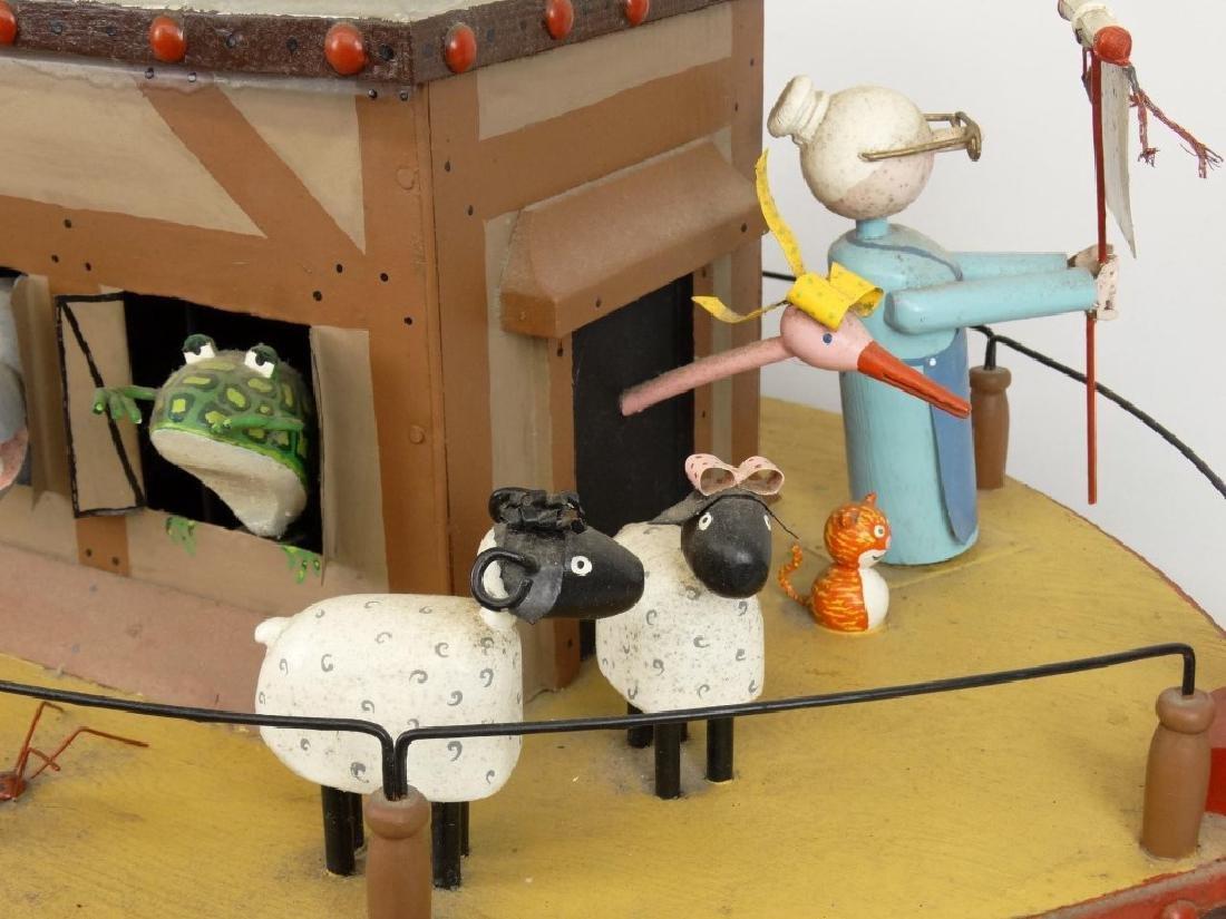Contemporary Folk Art Noah's Ark Whirligig - 15