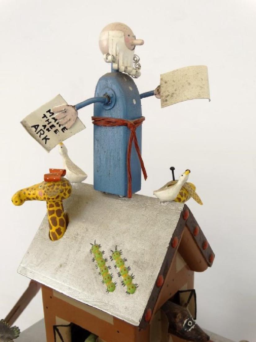 Contemporary Folk Art Noah's Ark Whirligig - 16