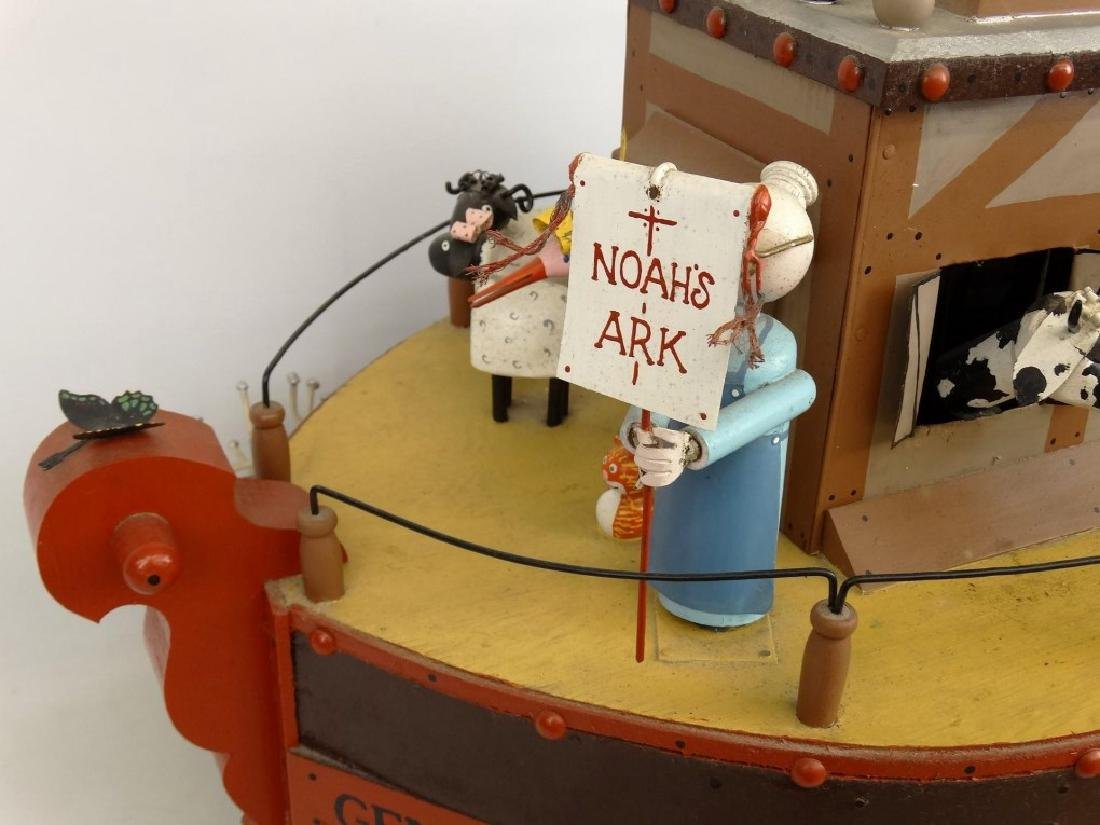 Contemporary Folk Art Noah's Ark Whirligig - 2