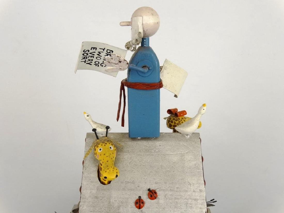 Contemporary Folk Art Noah's Ark Whirligig - 3
