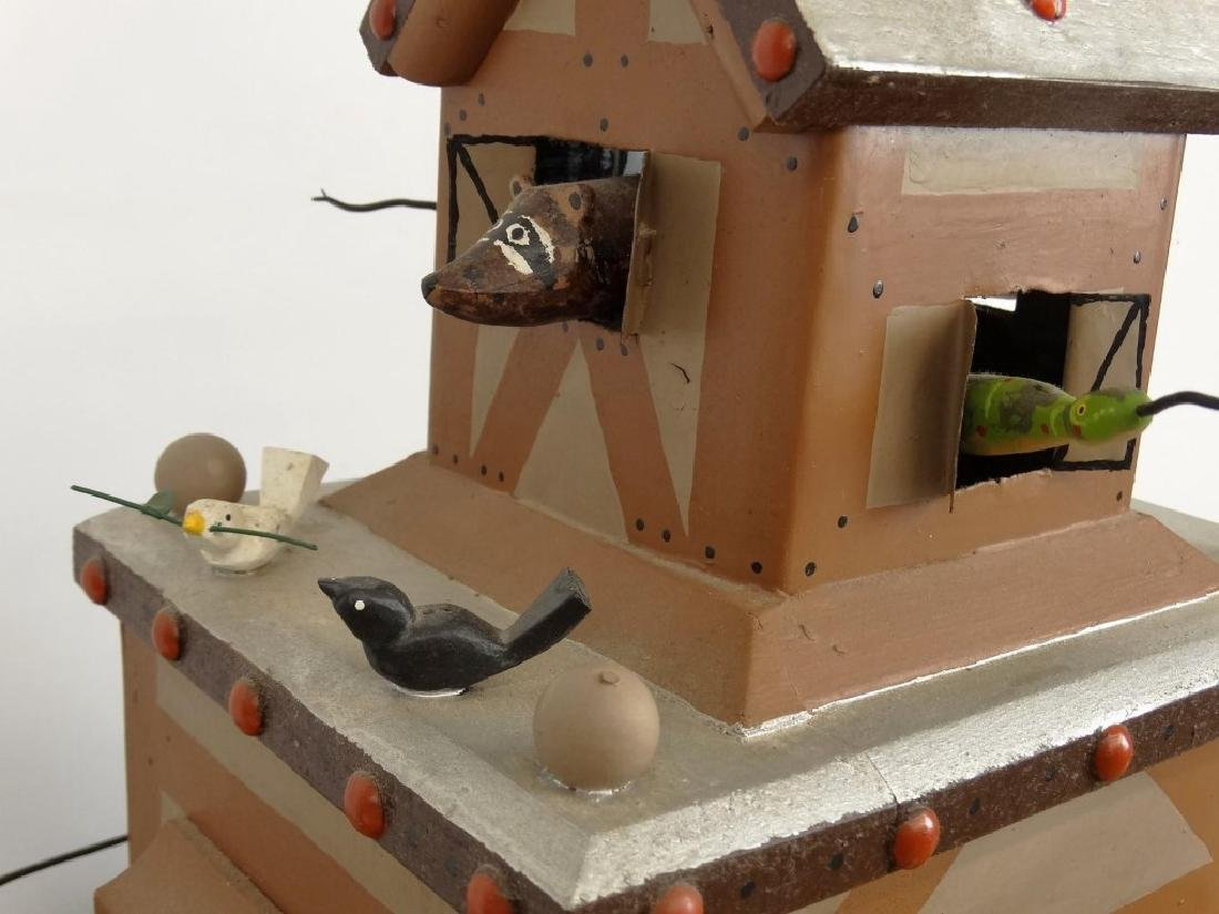 Contemporary Folk Art Noah's Ark Whirligig - 6