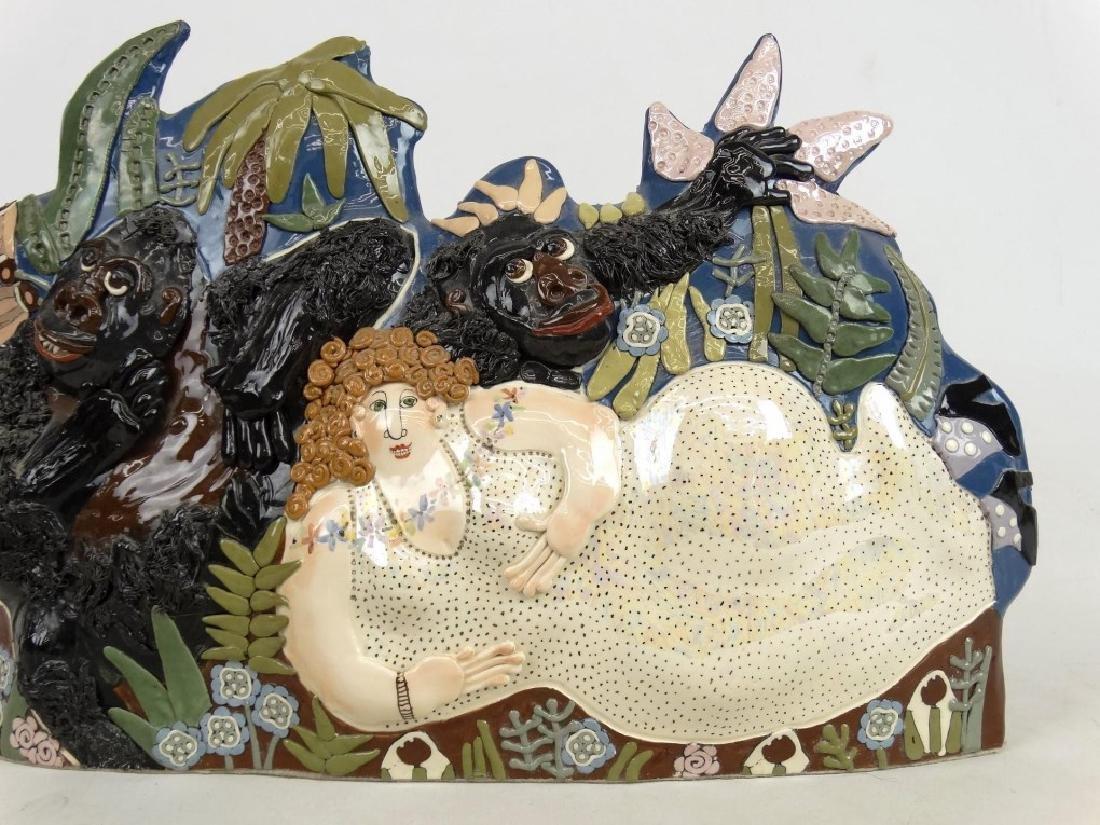 """CARRYL"" Ceramic Sculpture - 3"