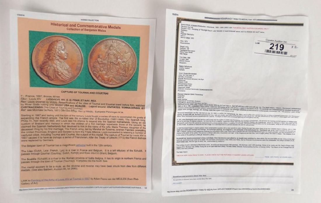 Bronze Medallions - 10