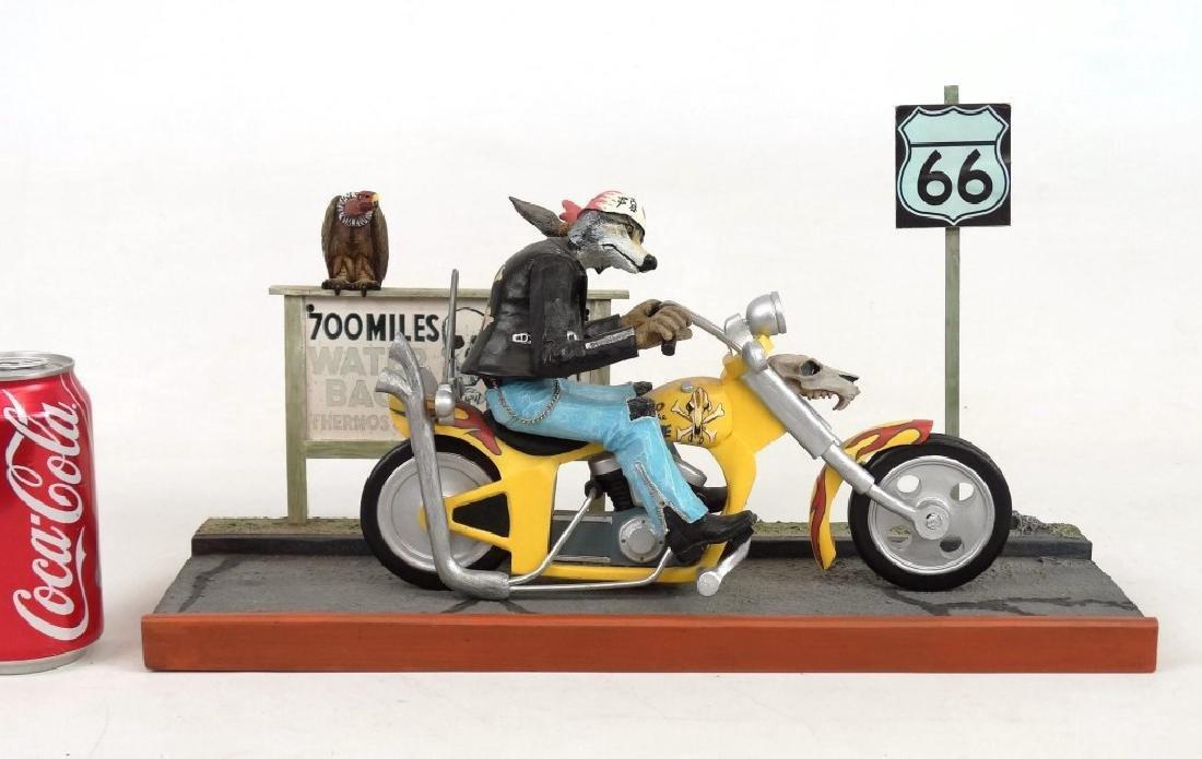 Biker Dog Sculpture