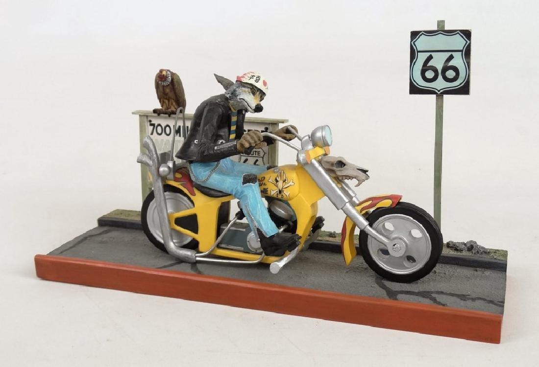 Biker Dog Sculpture - 2