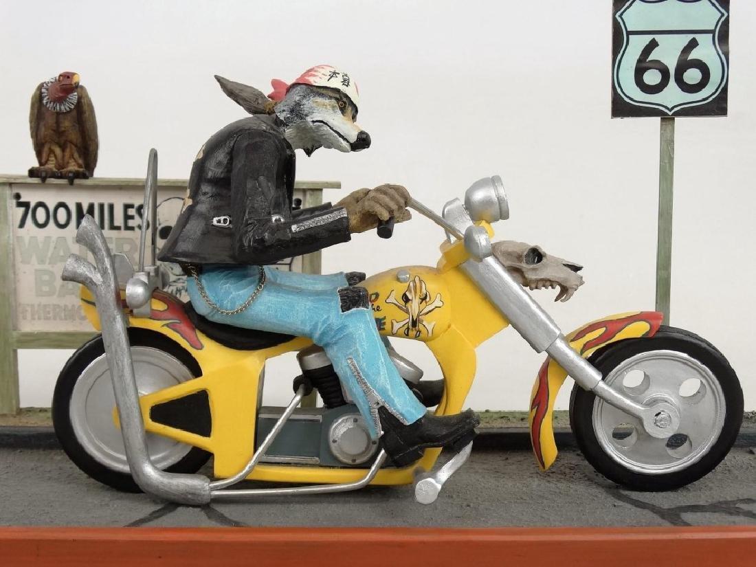 Biker Dog Sculpture - 3