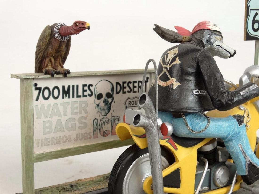 Biker Dog Sculpture - 4