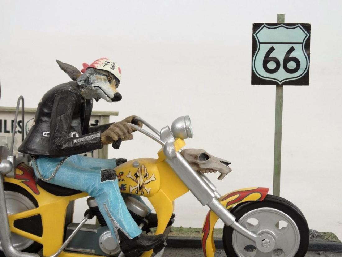 Biker Dog Sculpture - 7