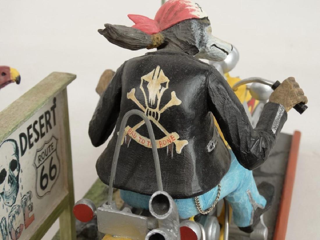 Biker Dog Sculpture - 8