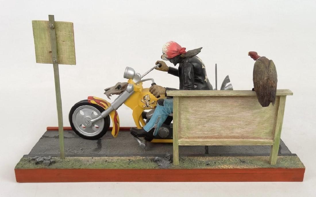 Biker Dog Sculpture - 9